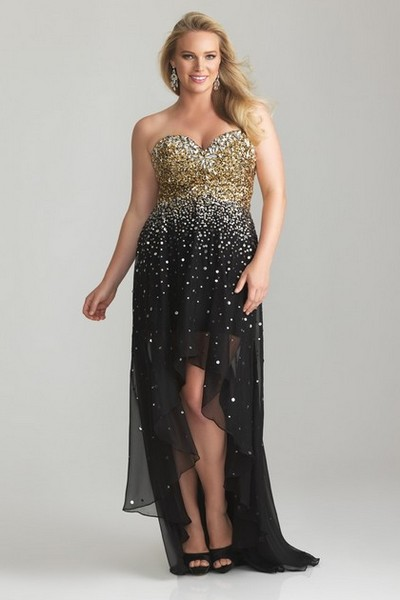 Выпускное платье 2013 для полных короткое спереди и длинное сзади