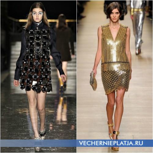 Модели платьев-сеток от Miu Miu и Paco Rabanne