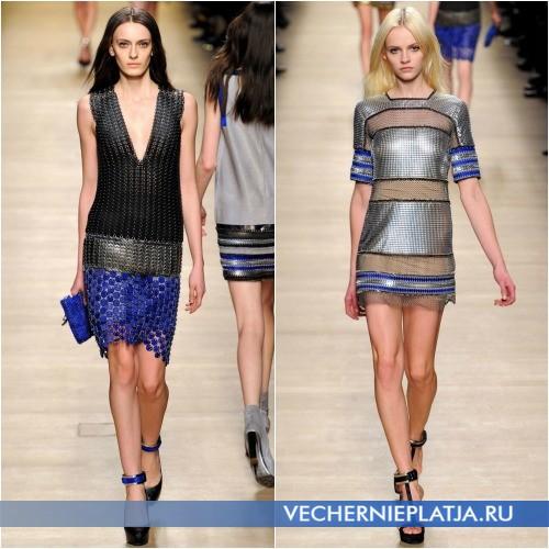 Платье из разноцветной сетки от Paco Rabanne