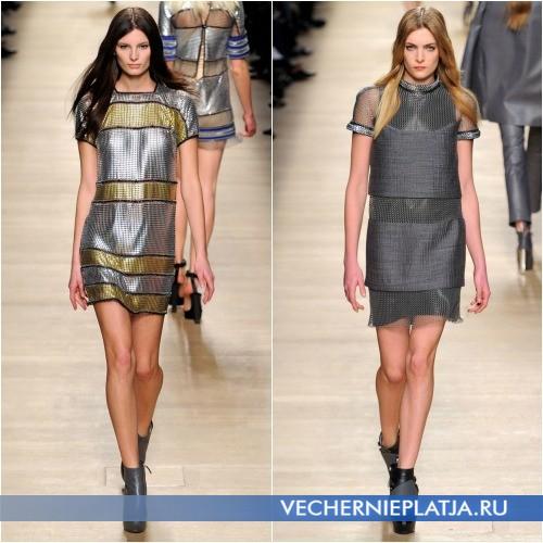 Короткие платья-сетка от Paco Rabanne