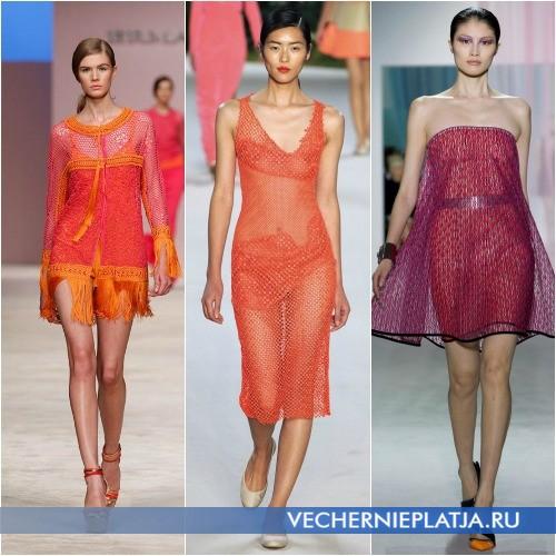 Розовые платья с сеткой от Ermanno Scervino, Akris и Christian Dior