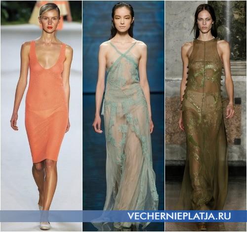 Модный цвет прозрачного платья 2013 от Akris, Alberta Ferretti и Emilio Pucci