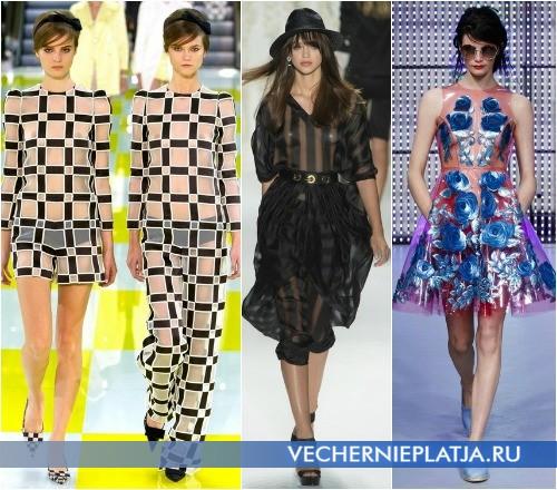 Модные платья из прозрачной ткани от Louis Vuitton, Rachel Zoe, Holly Fulton