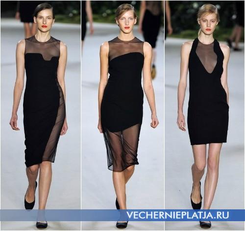 Черные платья с прозрачными вставками от Akris Весна-Лето 2013 фото