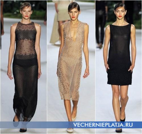 Модные прозрачные платья 2013 от Akris