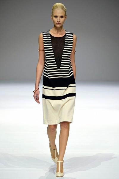 Повседневное платье в черно-белую полоску от Veronique Branquinho