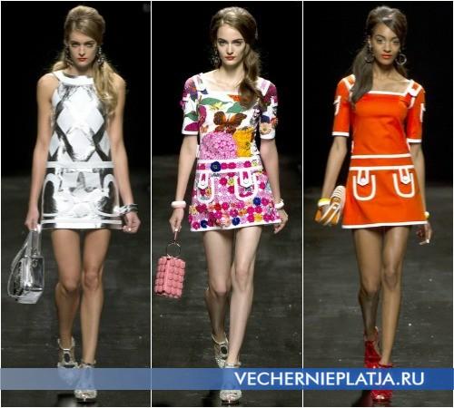 Очень короткие модные летние платья 2013 от Moschino