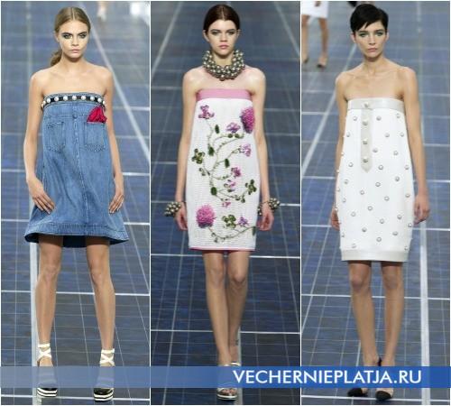 Открытые короткие платья лето 2013 от Chanel