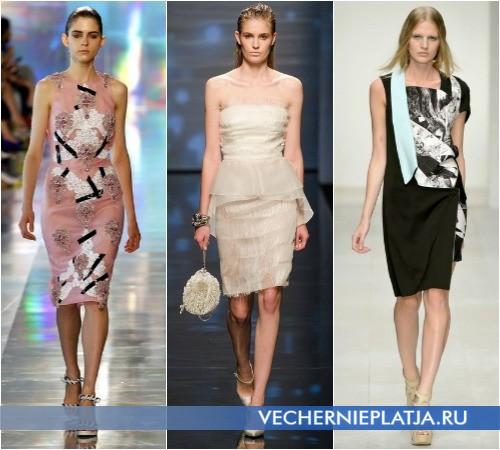 Деловые летние короткие платья 2013 от Christopher Kane, Alberta Ferretti, Jean Pierre Braganza