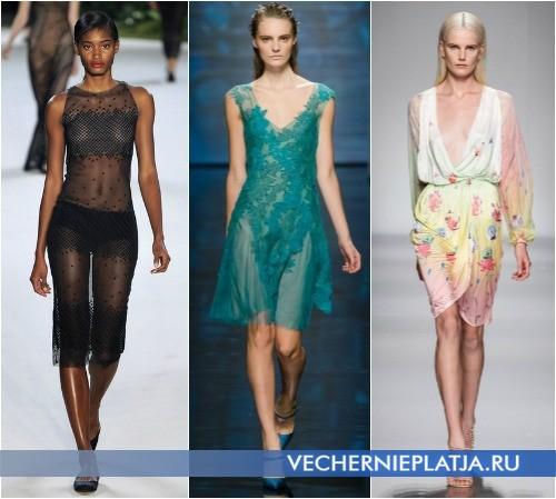 Красивые платья летние короткие 2012 от Akris, Alberta Ferretti, Blumarine