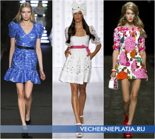 Короткие летние ретро-платья от Jean Charles de Castelbajac, Luisa Beccaria, Moschino