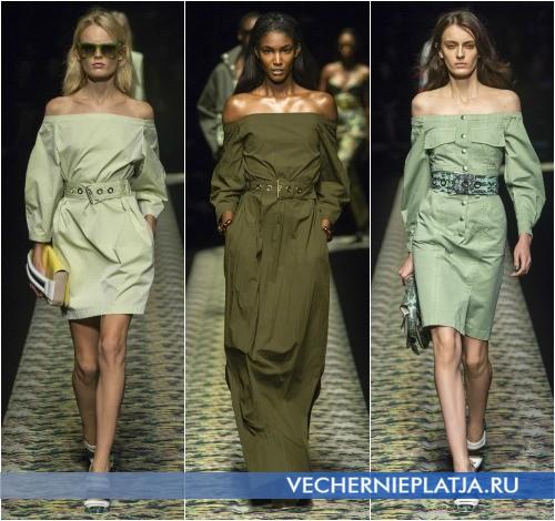 Платья 2013 весенние в стиле милитари от Kenzo