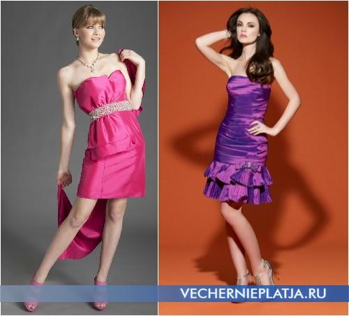 Платье с бантом короткое