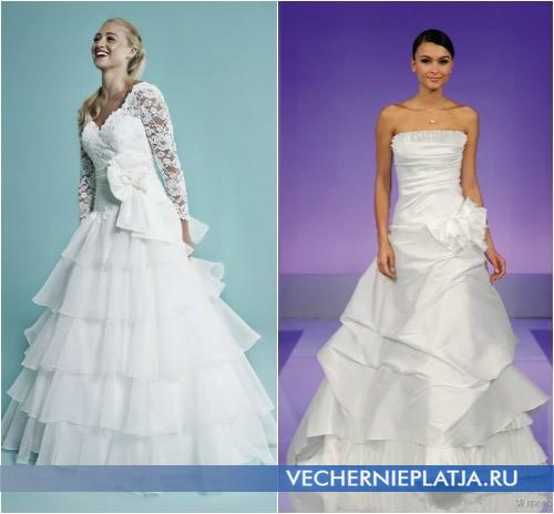 Свадебные платья с бантом, на фото модели Amanda Wyatt и Cymbeline