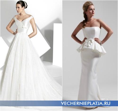 Свадебное платье с маленьким бантом, на фото Franc Sarabia и So Sassi