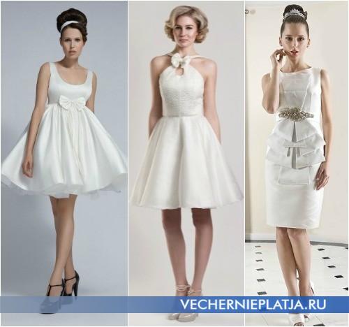 Свадебные короткие платья с бантом от Tobi Hannah и Fulara & Zywczyk