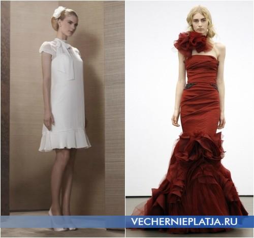 Свадебные платья с бантом на шее, на фото Pronuptia Paris и Vera Wang