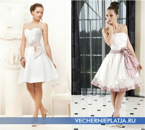Свадебные платья с нежно-розовым бантом от Fulara & Zywczyk