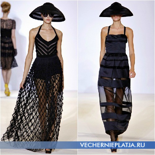 Летние длинные платья 2013