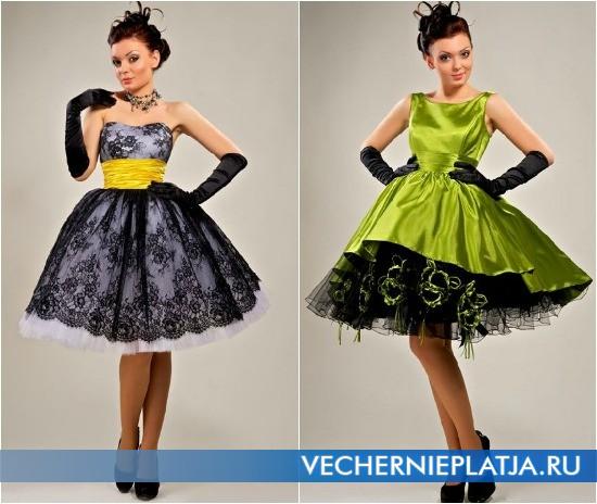 Платья-стиляги с пышной юбкой для новогодней вечеринки
