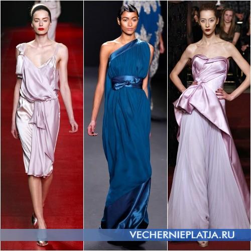 Роскошные ткани новогодних платьев 2014