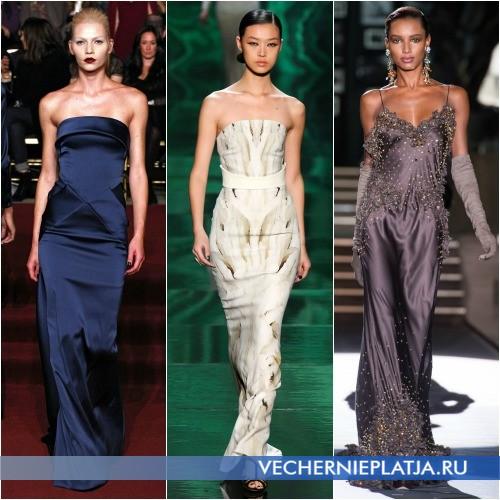 Новогодние длинные облегающие платья 2014