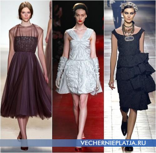 Новогодние коктейльные платья 2014