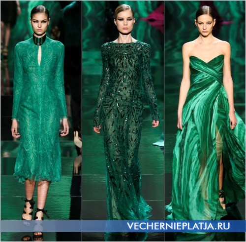 Зеленые новогодние платья 2014 фото