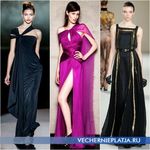Длинные осенние платья 2013 фото