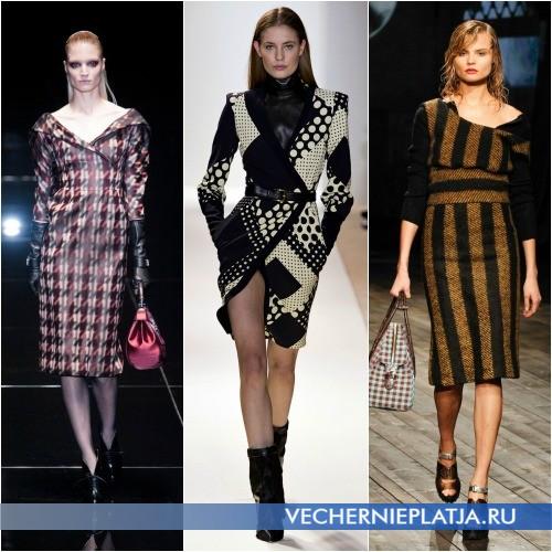 Платье с принтом на осень и зиму 2013-2014