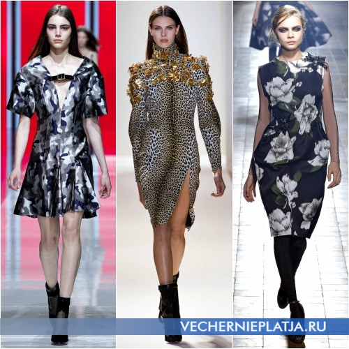 Платья в стиле милитари Осень-Зима 2013-2014