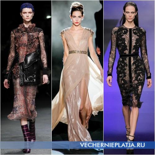 Платья ажурные Осень-Зима 2013-2014