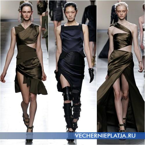 Молодежные платья в стиле милитари