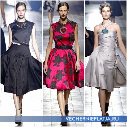 Модные фасоны платьев-миди
