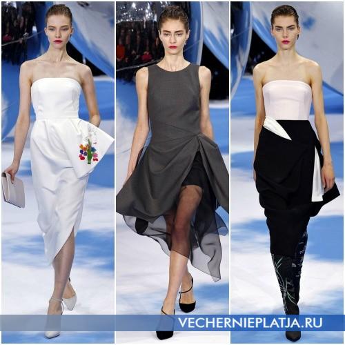 Модные платья средней длины миди