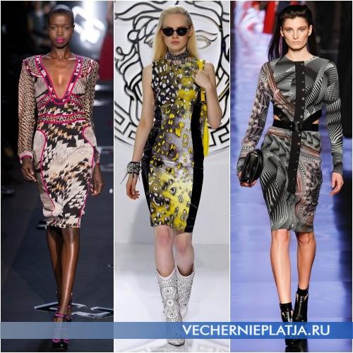 Модные платья с абстрактыми принтами