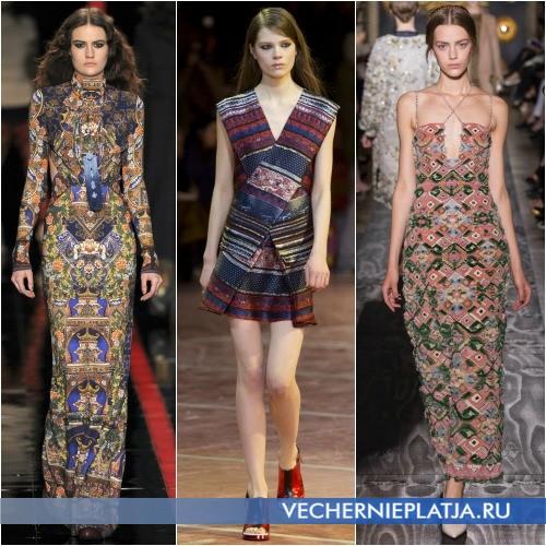 Модные этнические принты на платье в сезоне 2013-2014