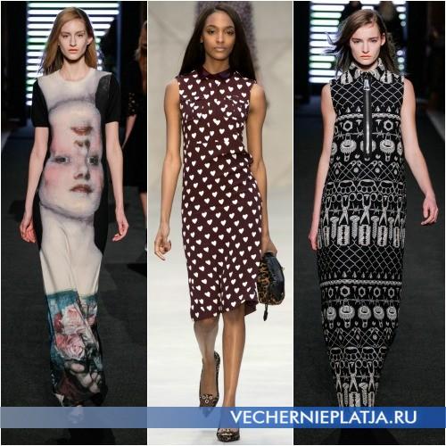 Модный принт на платье в стиле поп-арт