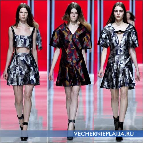 Модные камуфляжные узоры для платьев Осень-Зима 2013-2014