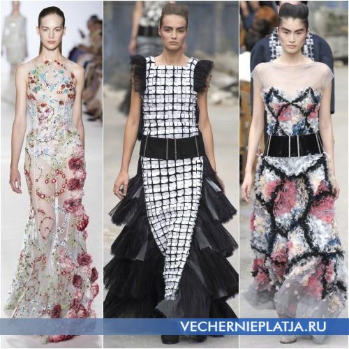 Платья с объемными узорами фото