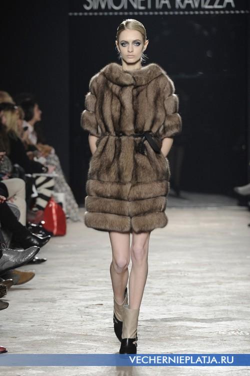 Роскошное меховое короткое платье Simonetta Ravizza
