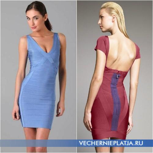 Короткие бандажные платья фото
