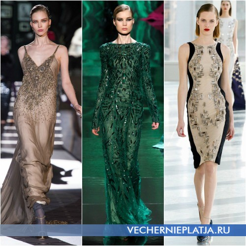 Блестящие элементы платья фото