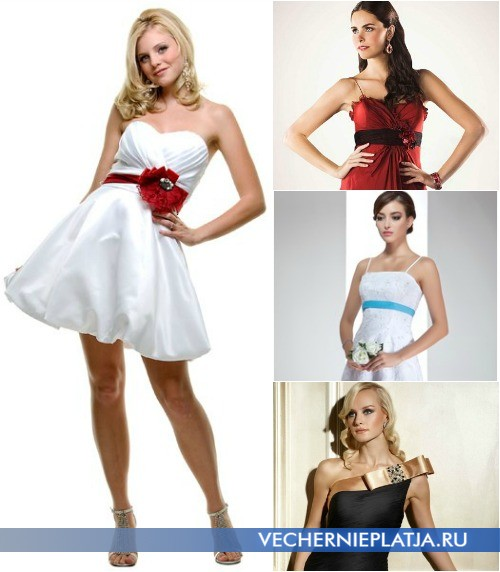 Украшение платья лентами