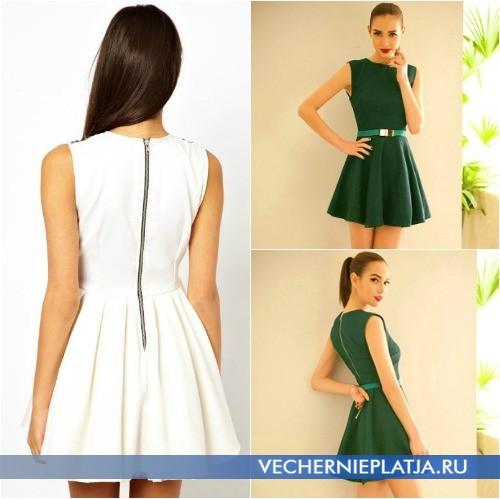 Платье с молнией на спине фото