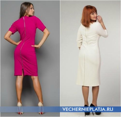 Деловые платья с молнией сзади фото