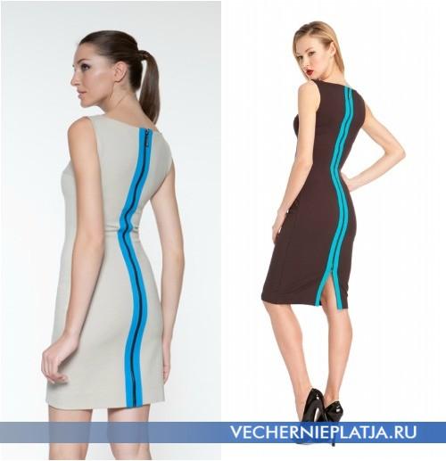 Платье с контрастной молнией на спине фото