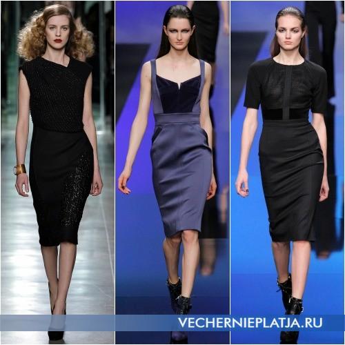 Платье средней длины для невысоких женщин
