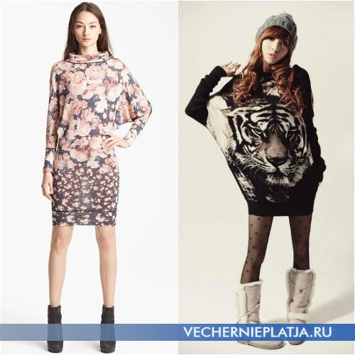 Стиль оверсайз - платья с рукавами летучая мышь