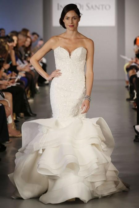 Свадебное платье с пышной юбкой русалка от Ines DiSanto